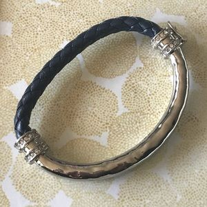 Hero Metal + Leather Cord Bangle
